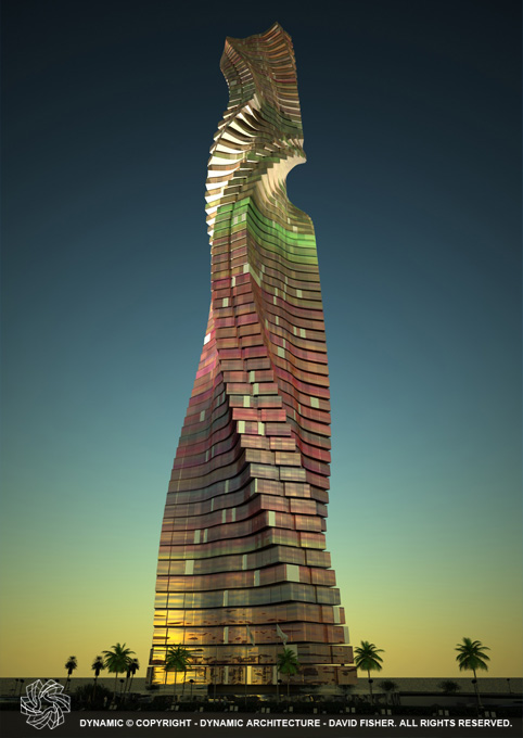 dubai towers rotating